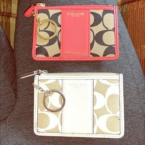 2 mini coach wallets, great for college students!